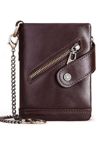 Twenty Eight Shoes Vintage Genuine Leather RFID Security Trifold Wallet BP930 F1C41AC5A8BC22GS_1