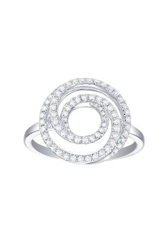 Vedantti white Vedantti 18K The Circle Swirls Ring in White Gold 07CEEACA44FD18GS_1
