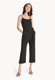 dca927e7a22 Strappy Tie Waist Jumpsuit - Black 66B3CAAA1CE7CFGS 1