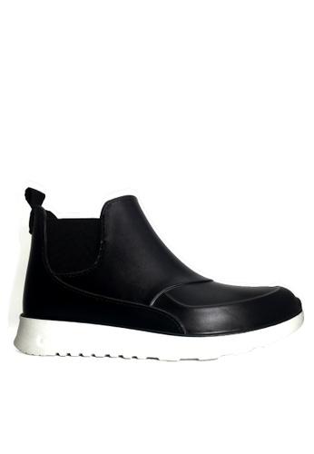 Twenty Eight Shoes 黑色 男女款舒適厚底短雨靴 VR51 2984BSH3AB5A0CGS_1