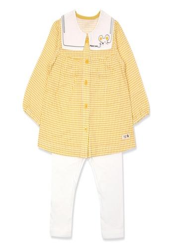 Organic mom yellow Organic Cotton Abby Tailor Lightweight Long Sleeves Pjs 96324KA426D990GS_1