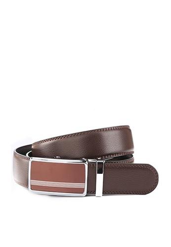 Twenty Eight Shoes brown VANSA Fashion Leather Automatic Buckle Belt  VAM-Bt015 BC9FEAC317266EGS_1