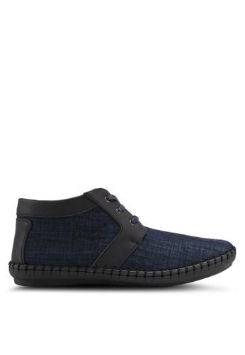 Louis Cuppers navy Casual Textured Boots 42D81SH16DF21DGS_1