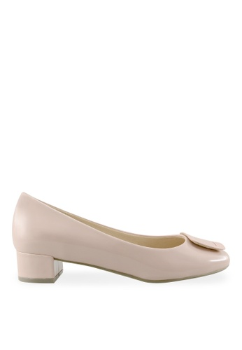 Footspot pink FOOTSPOT – Square Toe Block Heel Shoes With Buckle FO296SH2UVPKHK_1