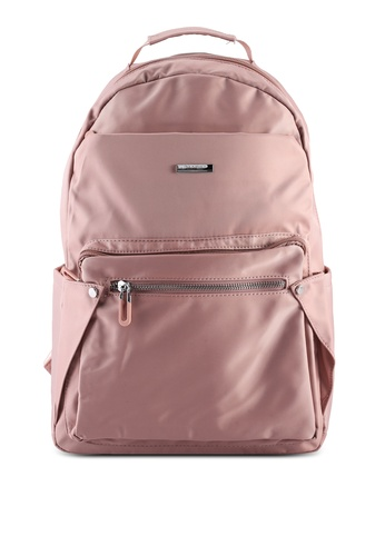 NUVEAU pink Lightweight Nylon Backpack 5AA2AAC0F397F0GS_1