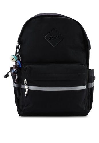 Bagstationz black Fashion Laptop Backpack FC84EACEBCE49AGS_1