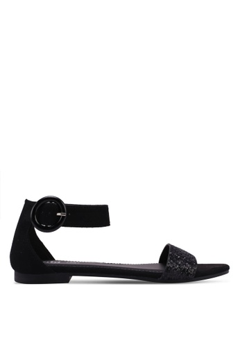 Rubi black Francesca Ankle Strap Sandals 4CDD9SH57B7BA7GS_1