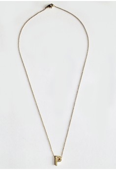 P Stainless Letter Necklace