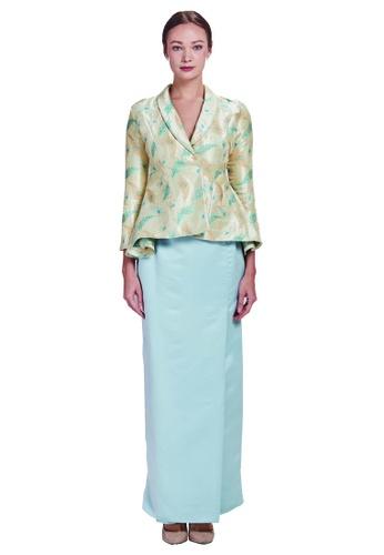 QAISHA Kurung from Meraki Atelier in Green