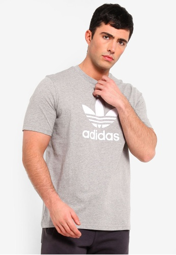 newest f941e e59e2 adidas grey adidas originals trefoil t-shirt C69E5AA05E1D72GS 1