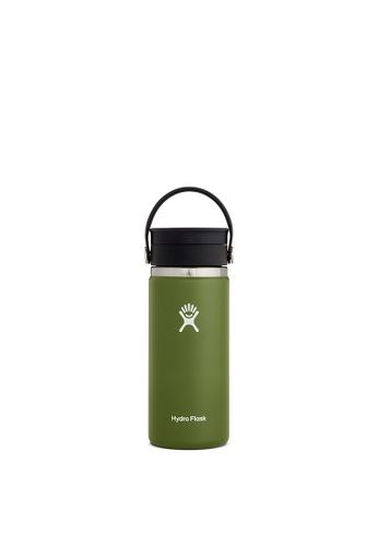 Hydro Flask green Hydro Flask Wide Mouth W/Flex Sip Lid 16 oz (473ml) - Olive 4A975AC931125EGS_1
