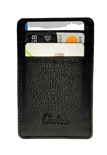 Oxhide black Vertical Leather cardholder-Card Sleeve - Oxhide 3601 Black B33A2AC095B2D0GS_1