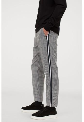 H&M grey Trousers Slim Fit 2C1D0AA22ED51CGS_1