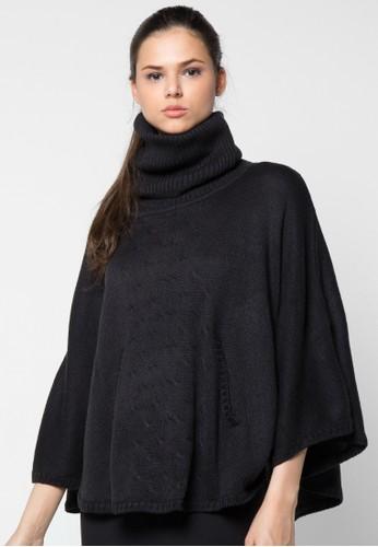 Noir Sur Blanc black Ladies Poncho NO321AA81VZIID_1