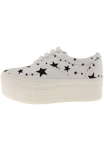 Maxstar 白色 新款韩国鞋C50-5H-Star時尚帆布布混合女白色 US Women Size MA345SH15GSQTW_1