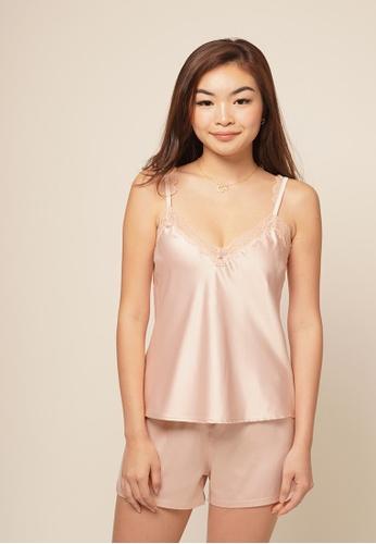 So Lingerie 粉紅色 JANE背心短裤套装 F18F3US389468FGS_1