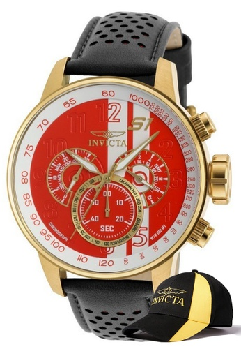 INVICTA gold Invicta S1 Rally Men Chronograph IP 48mm Quartz Watch 19907 w/ Free Official Baseball Cap B56EEAC294FC9FGS_1