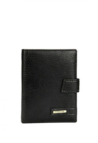LOVENGIFTS black LOVENGIFTS Travel Passport Wallet For Men (Black) LO429AC70UHHMY_1