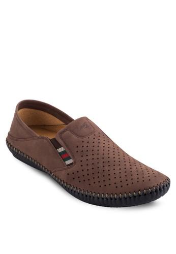 透氣沖孔休閒懶人鞋,esprit home 台灣 鞋, 懶人鞋