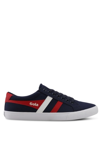 Gola white and red and navy Varsity Sneakers 6E3E5SH5E247B3GS_1