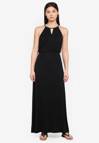 Something Borrowed black Keyhole Maxi Dress 99C14AA7F5EA96GS_1