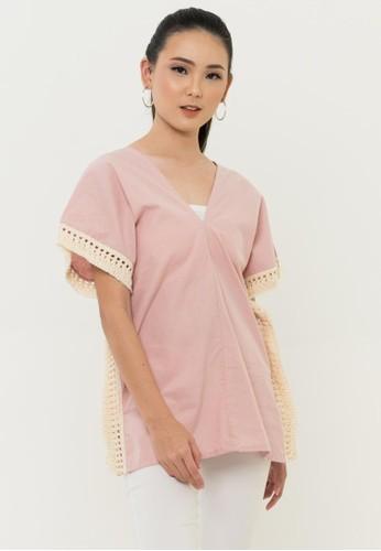 ONYCHA pink Luna Top in Pink 46D65AA9CECF3CGS_1