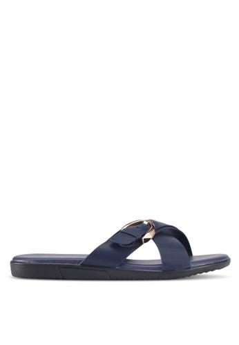 Bata 藍色 Bata Casual Sandals 9EF7CSHE5387FCGS_1