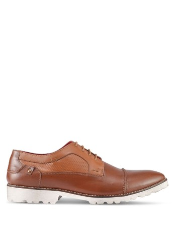 ACUTO brown Leather Derby Shoes AC283SH0SL77MY_1