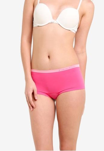 Calvin Klein pink Pure Seamless Boyshorts - Calvin Klein Underwear CA221US0RP9IMY_1