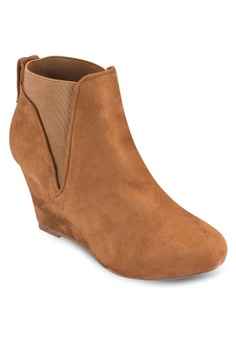 布料楔型跟踝靴