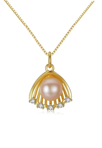 A.Excellence pink Premium Pink Pearl Elegant Necklace 496E1AC24F6D7FGS_1
