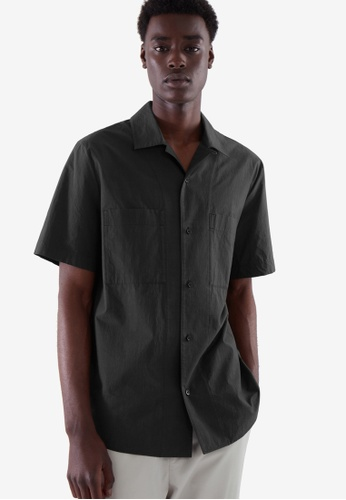 COS black Regular-Fit Camp Collar Shirt C19F6AADEE483EGS_1