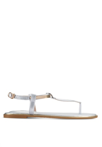 Sunnydaysweety silver Simple Flat Sandals A0221SV 6CFF8SHE1D9F0FGS_1