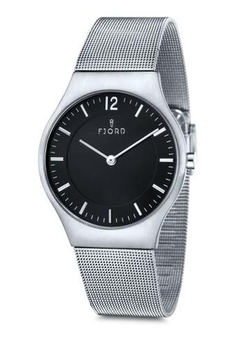 OLLE 雙指針金屬網眼圓錶esprit 手錶, 錶類, 不銹鋼錶帶