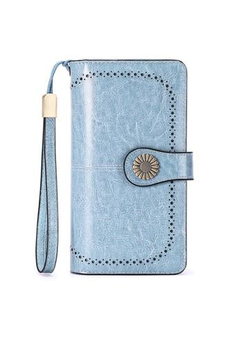 Twenty Eight Shoes blue VANSA Burnished Leather Bi-Fold Long Wallet VBW-Wt5162 C61E7ACED1977DGS_1