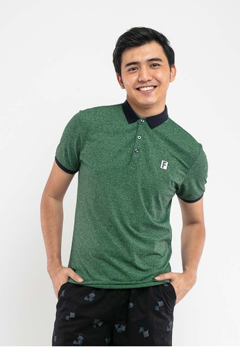FOREST green Forest Stretchable Two Tone Plain Polo Tee - 23360-41Green E8269AA22850D9GS_1