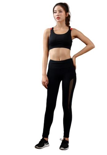 LYCKA black ZFG7015Lady Quick Drying Running Fitness Yoga Sports Bra -Black 13134USE8F350FGS_1