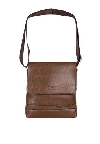 DNJ brown Messenger Bag CC01DACCF0C34AGS_1