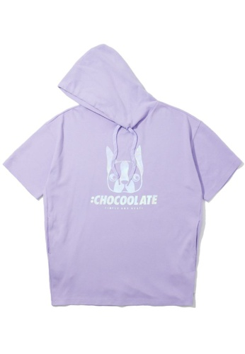 :CHOCOOLATE purple Dog hoodie 263A7AA5A96B12GS_1