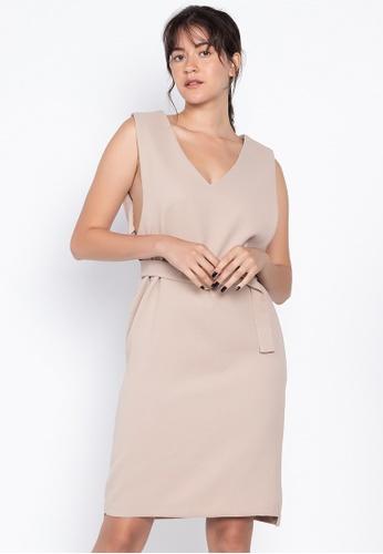 Susto The Label beige Hyde Dress 5C431AA968591DGS_1