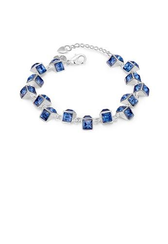 Glamorousky purple Romantic Brilliant Geometric Blue Austrian Element Crystal Bracelet 77B27AC9F8197AGS_1