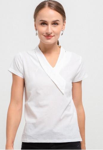 Batik First white Blouse TieButton CAP/Sleeve AA2B9AA60AE012GS_1