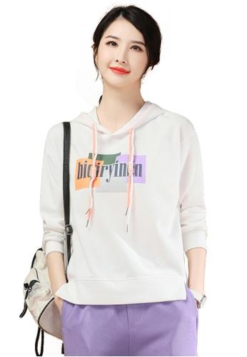 A-IN GIRLS white Fashion Printed Hooded Sweatshirt 57954AA608E4A8GS_1