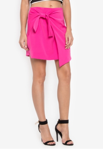 CANVAS pink Imelle Draped Side Tie Skort 8B4E5AA1B32EF6GS_1