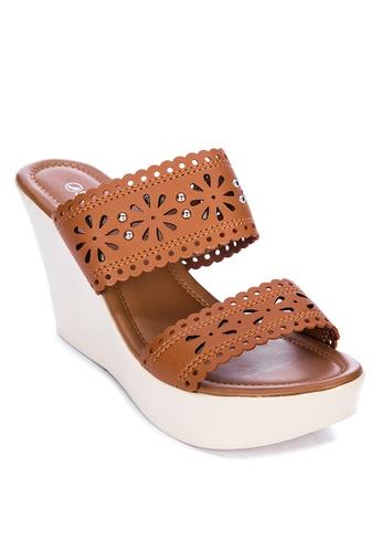 Suki brown Wedge Slides 546CFSH4D37F26GS_1