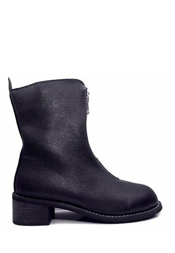 Twenty Eight Shoes 黑色 拉鏈軍裝中靴 VB4808 2D05ESH95581C0GS_1