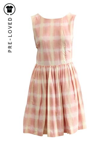 Marc By Marc Jacobs pink Pre-Loved marc by marc jacobs Pink and White Sundress AB61DAA5797DA6GS_1