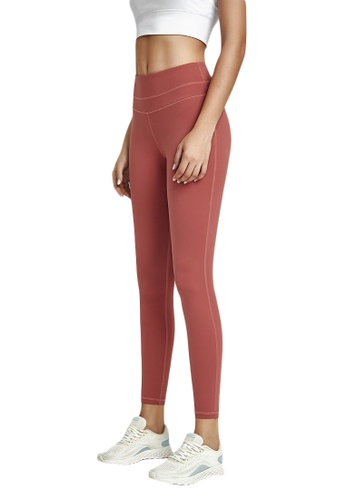 B-Code red ZWG1103a-Lady Quick Drying Running Fitness Yoga Leggings-Red E547FAA7546C72GS_1