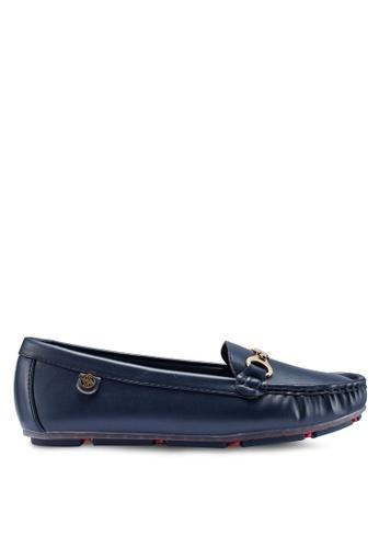 Carlton London 藍色 仿皮樂福鞋 51EA9SHF114A30GS_1