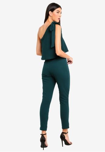 441e3958ff8d Shop MISSGUIDED One Shoulder Bow Jumpsuit Online on ZALORA Philippines